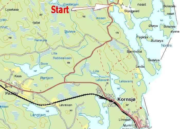 kornsjø kart Kornsjo Svinesund dag 1 kornsjø kart